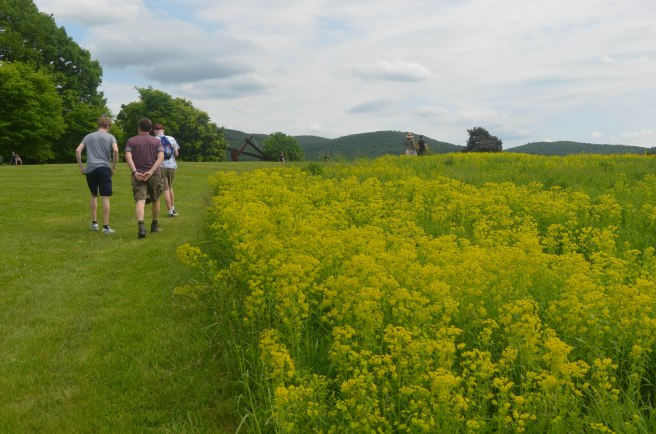 Walking through Storm King with the family