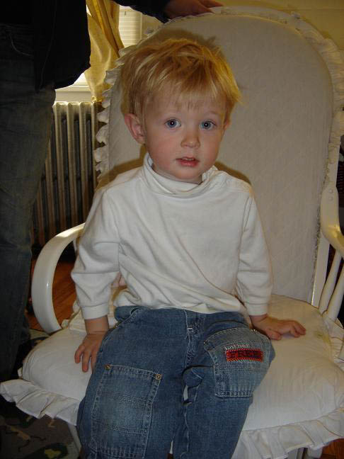 Ian at age 2, when he first started speech therapy.